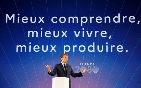 Macron unveils 30-billion euro plan for innovation and industrial revival
