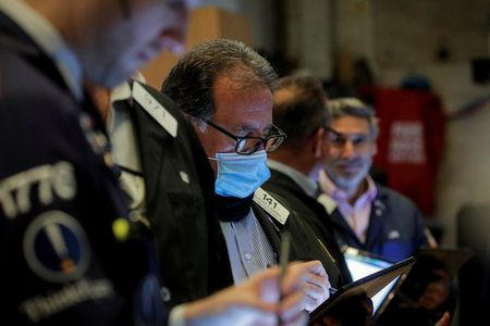 Stocks near flat but on track for a 3rd week of gains; dollar weakens
